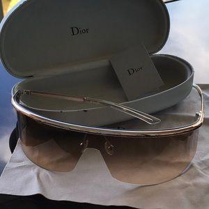 Christian Dior light bronze tinted sunglasses